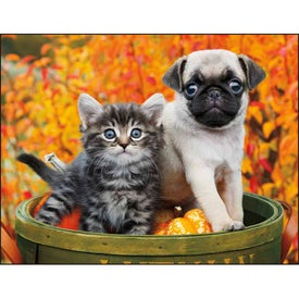 Imprinted Puppies and Kittens Spiral Calendar