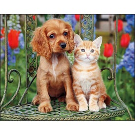 Puppies and Kittens Spiral Calendar for Your Company