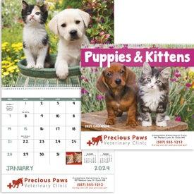Puppies and Kittens Spiral Calendar (2020)