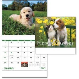 Logo Puppies and Kittens Stapled Calendar