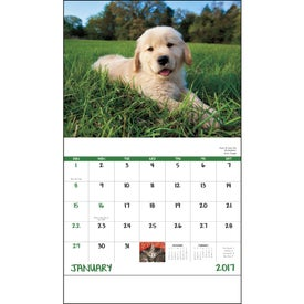 Puppies and Kittens Stapled Calendar for Your Church