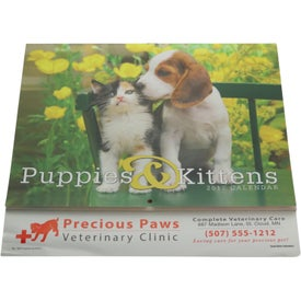 Customized Puppies and Kittens Stapled Calendar