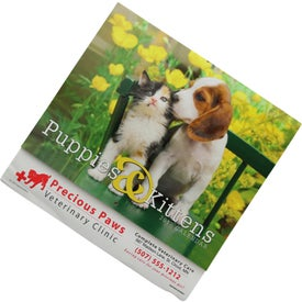 Printed Puppies and Kittens Stapled Calendar