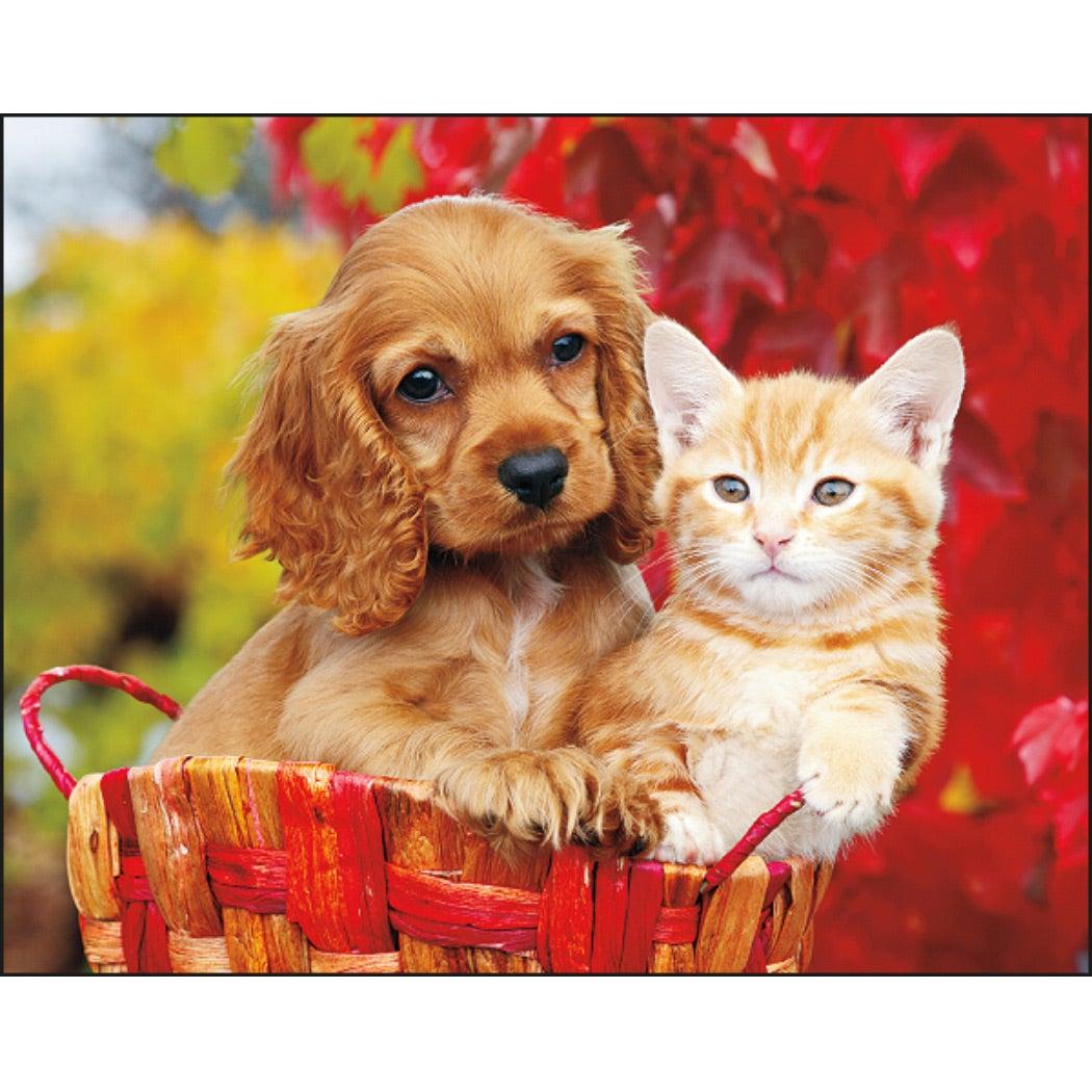 Puppies and Kittens Stapled Calendar (2020)