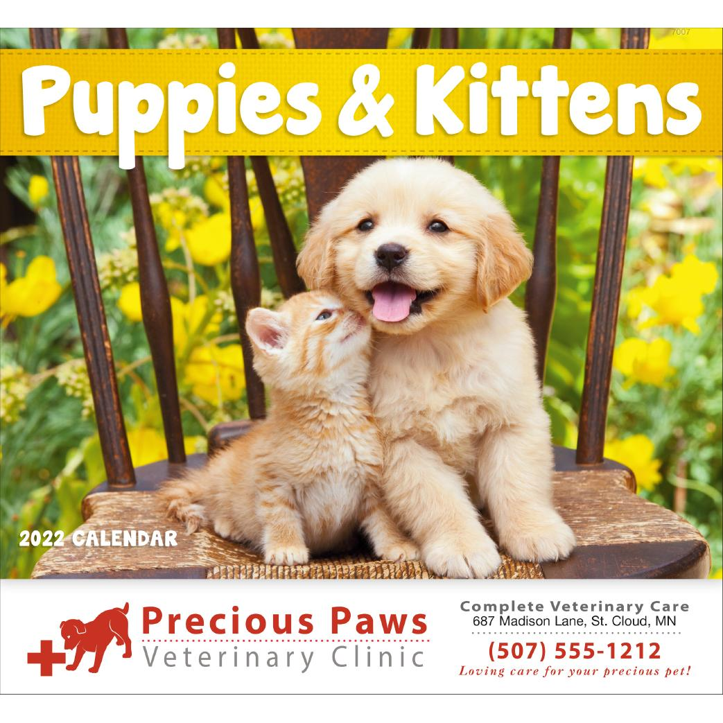 Printable Calendar 2020 Kitten December CLICK HERE to Order 2020 Puppies and Kittens Stapled Calendars