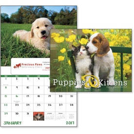 Puppies and Kittens Window Calendar for Promotion
