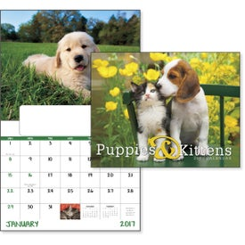 Puppies and Kittens Window Calendar for Customization