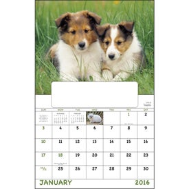Puppies and Kittens Window Calendar with Your Slogan