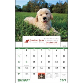 Puppies and Kittens Window Calendar for Your Organization