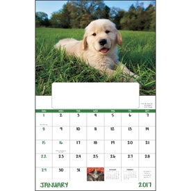 Customized Puppies and Kittens Window Calendar