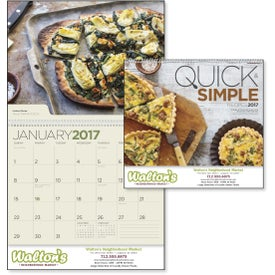 Quick and Simple Recipes - Calendar for Customization