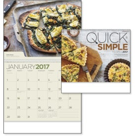 Quick and Simple Recipes - Calendar Branded with Your Logo