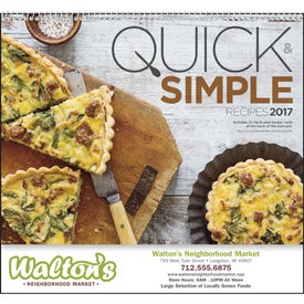 Quick and Simple Recipes - Calendar (2017)
