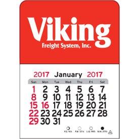 Advertising Rectangle Vinyl Adhesive Calendar