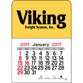 Rectangle Vinyl Adhesive Calendar Branded with Your Logo