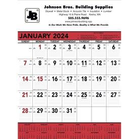 Company Red and Black Contractor's Memo Calendar
