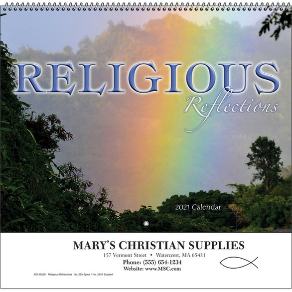 See Item Religious Reflections Wall Calendar