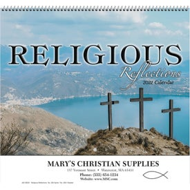 Religious Reflections Wall Calendar (Spiral)
