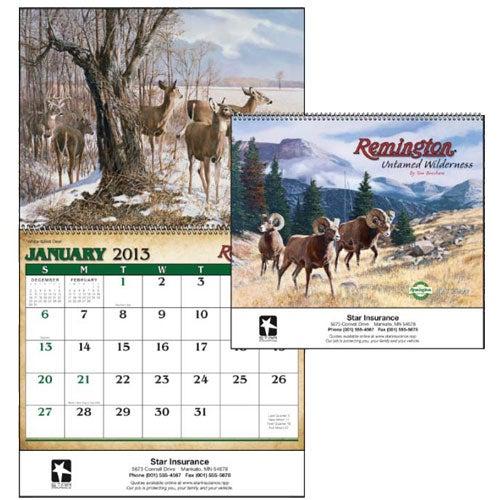 Remington Calendar Art : Remington untamed wilderness appointment calendar