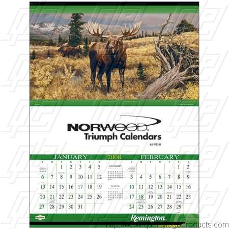 Remington Calendar Art : Promotional remington wildlife art calendars with custom