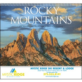 Rocky Mountains Appointment Calendar with Your Logo