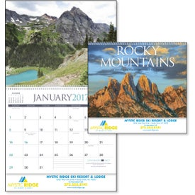 Rocky Mountains Appointment Calendar with Your Slogan