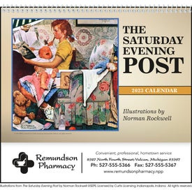 The Saturday Evening Post Pocket Calendar for Customization