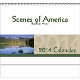 Imprinted Scenes of America Big Block Memo Calendar