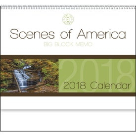 Scenes of America Big Block Memo Calendar Branded with Your Logo