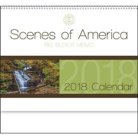 Scenes of America Big Block Memo Calendar Branded with Your Logo