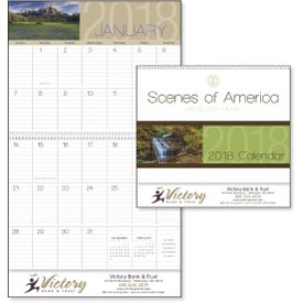 Scenes of America Big Block Memo Calendar Imprinted with Your Logo