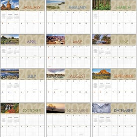 Scenes of America Big Block Memo Calendar for Your Church