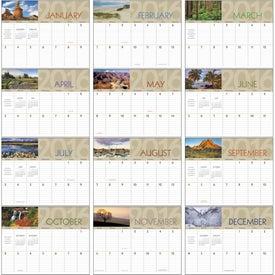 Scenes of America Big Block Memo Calendar for Your Church