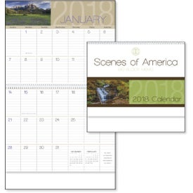 Scenes of America Big Block Memo Calendar for Advertising
