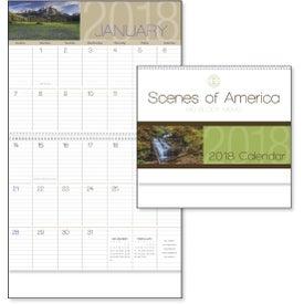 Scenes of America Big Block Memo Calendar for Advertising