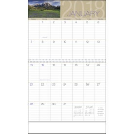 Personalized Scenes of America Big Block Memo Calendar