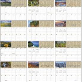 Scenes of America Big Block Memo Calendar Printed with Your Logo