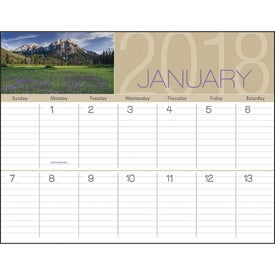 Printed Scenes of America Big Block Memo Calendar