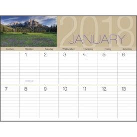 Printed Scenes of America Big Block Memo Calendar