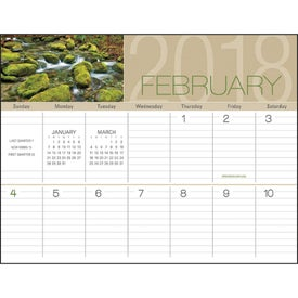 Logo Scenes of America Big Block Memo Calendar