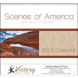 Scenes of America Big Block Memo Calendar (2019)