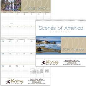 Scenes of America Big Block Memo Calendar (2017)