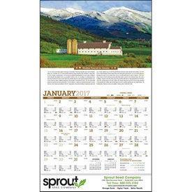 Scenic Almanac Calendar for Promotion