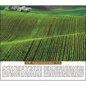 Scenic Almanac Calendar for Advertising