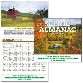 CLICK HERE to Order 2020 Scenic Almanac Calendars Printed with Your