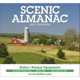 Scenic Almanac Calendar Printed with Your Logo