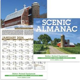 Scenic Almanac Calendar Printed with Your Logo