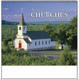 Customized Scenic Churches Spiral Calendar