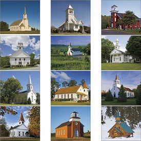 Custom Scenic Churches Spiral Calendar