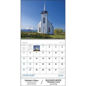 Scenic Churches Spiral Calendar for your School